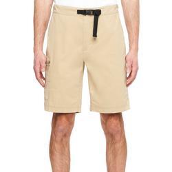 Mens River Solid Belted Hiker Shorts