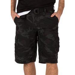 Wearfirst Mens Belted Dark Camo Shorts