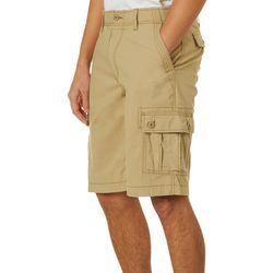 Wearfirst Mens Solid Comfort Waist Cargo Shorts
