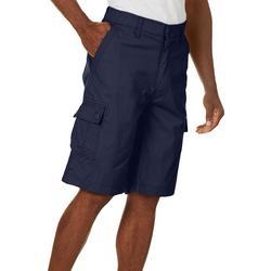 Mens Solid Ripstop Comfort Waist Cargo Shorts