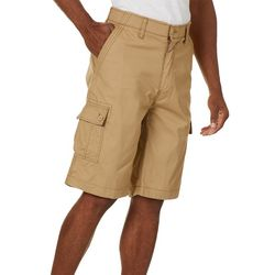 Wearfirst Mens Solid Ripstop Comfort Waist Cargo Shorts