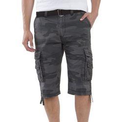 Union Bay Mens Cordova Dark Camo Messenger Cargo Shorts