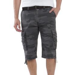 Mens Cordova Dark Camo Messenger Cargo Shorts