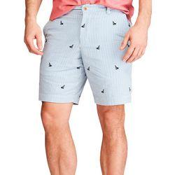 Chaps Mens Sailboat Print Shorts