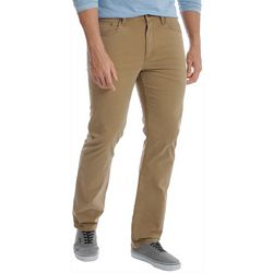 Mens Solid Straight Leg Twill Jeans