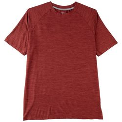 RB3 Active Mens Space Dyed Mesh Panel Performance T-Shirt