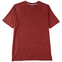 Mens Space Dyed Mesh Panel Performance T-Shirt