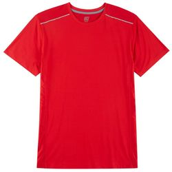 RB3 Active Mens Solid Mesh Panel Reflective T-Shirt