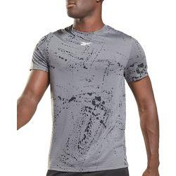 Reebok Mens Workout Ready Paint Splatter Logo T-Shirt