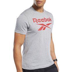 Reebok Mens Heather Logo T-Shirt