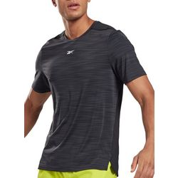 Reebok Mens Activchill Move Heathered Short Sleeve T-Shirt