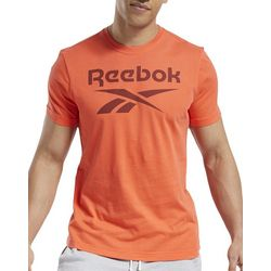 Reebok Mens Graphic Series Stacked Solid T-Shirt