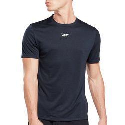 Reebok Mens Workout Ready Melange Logo T-Shirt
