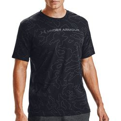 Under Armour Mens UA All Over Wordmark Short Sleeve T-Shirt