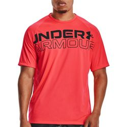 Under Armour Mens UA Filled And Hollow Wordmark Logo T-Shirt