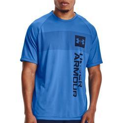 Mens UA Chest Stripe Verticle Logo T-Shirt