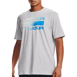 Under Armour Mens Team Issue Ombre Logo Wordmark T-Shirt