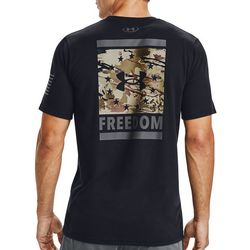 Under Armour Mens UA Freedom Back Print T-Shirt