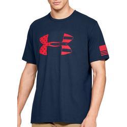 Mens UA Freedom Flag Filled Logo T-Shirt