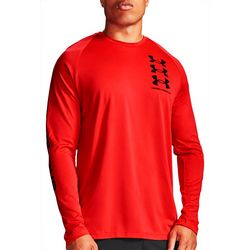 Under Armour Mens Long Sleeve Triple Logo T-Shirt