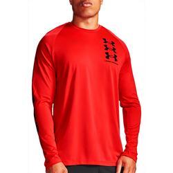 Mens Long Sleeve Triple Logo T-Shirt