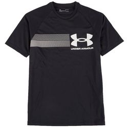 Under Armour Mens Heatgear Chest Stripe Logo T-Shirt