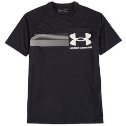 Mens Heatgear Chest Stripe Logo T-Shirt