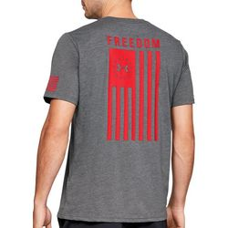 Under Armour Mens UA Freedom Back Graphic Logo T-Shirt