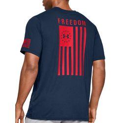 Under Armour Mens UA Freedom Back Graphic Logo T-Shirt