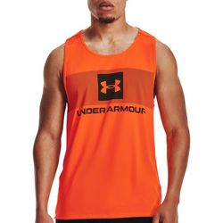 Under Armour Mens UA Logo Shaded Chest Stripe Tank Top