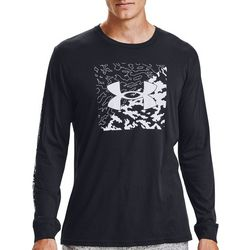 Under Armour Mens Long Sleeve Camo Box Logo T-Shirt