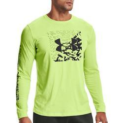 Mens UA Camo Box Logo Long Sleeve T-Shirt