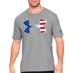 Under Armour Mens UA Freedom Big Logo Fill T-Shirt