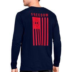 Mens UA Freedom Flag Long Sleeve T-Shirt
