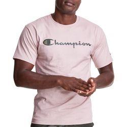 Champion Mens Solid Script Logo T-Shirt