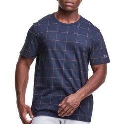 Champion Mens Short Sleeve Grid Print T-Shirt