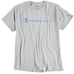 Mens Heathered Jersey Script C Filled Logo T-Shirt