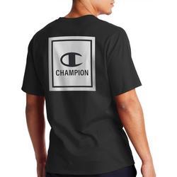 Mens Marble Print Boxed Logo T-Shirt