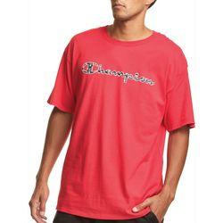 Champion Mens C Filled Script Logo T-Shirt