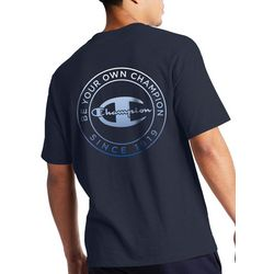 Champion Mens Be Your Own Champion Circle Graphic T-Shirt