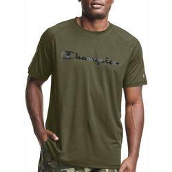 Champion Mens Jersey Script CIty Camo Fill Logo Crew T-Shirt