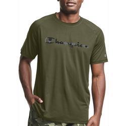 Mens Jersey Script CIty Camo Fill Logo Crew T-Shirt