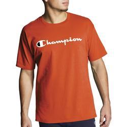 Mens Solid Script Logo T-Shirt