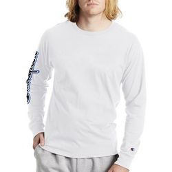 Champion Mens Long Sleeve Graphic Logo Sleeve T-Shirt