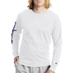 Mens Long Sleeve Graphic Logo Sleeve T-Shirt