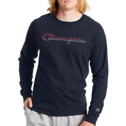 Champion Mens Long Sleeve Classic Graphic Logo T-Shirt