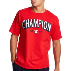 Champion Mens Short Sleeve Solid Logo Tee