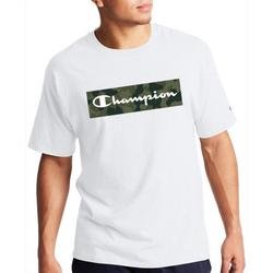 Mens Short Sleeve Camo Fill Graphic Logo T-Shirt