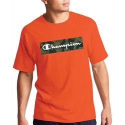 Champion Mens Short Sleeve Camo Fill Graphic Logo T-Shirt
