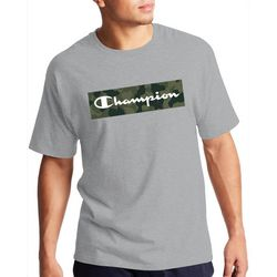 Champion Mens Short Sleeve Camo Fill Graphic Logo